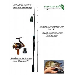 "Kit Pescuit spinning ""Lanseta spinning S-662-ML + Mulineta MA2000"""