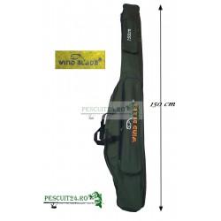 Husa transport  Lansete/Vergi cu 2 compartimente + 2 buzunare, Lungime 145 cm