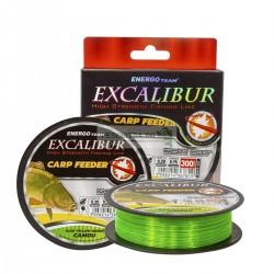 FIR EXCALIBUR CARP FEEDER FLUO YELLOW-GREEN CAMOU, Energofish, 300m