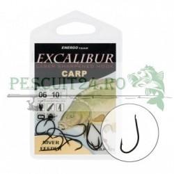 Carlige Excalibur River Feeder Black, Marime 2, 4, 6, 8, 10, 12, 14