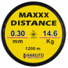 Monofilament maxxx visibility galben fluo neon 1200m Hakuyo